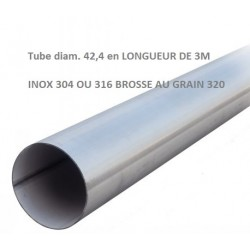 Tube - Ø42,4x2 EN LONGUEUR DE 3m/2m/1m